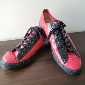 Converse All Star Genuine Red Patent Leather Shoes